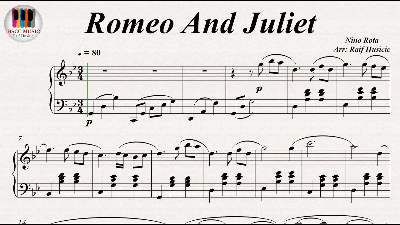 Romeo And Juliet (A Time For Us) - Nino Rota, Piano PDF