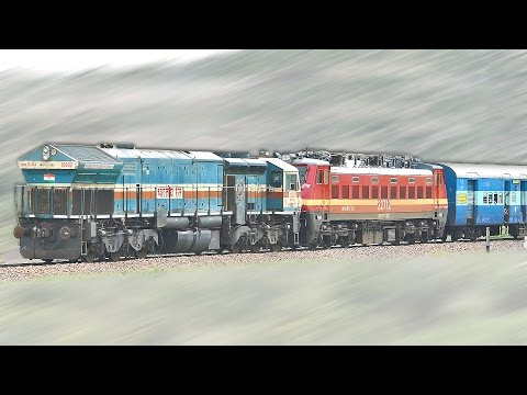 Diesel Loco's SHUTS OFF the ELECTRIC's : DIVERTED Trains -1