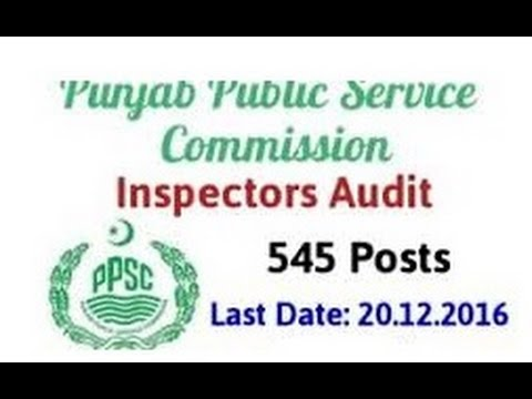 PPSC | 578 VACANCY 2016 | Inspector Audit, Child Dev. office