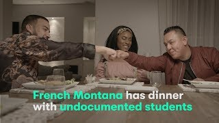 French Montana has dinner with undocumented students