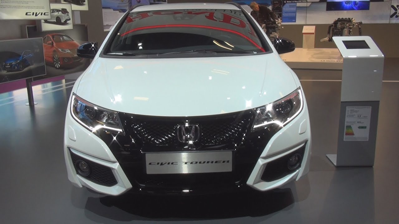 honda civic tourer 1 6 i dtec sport 2017 exterior and. Black Bedroom Furniture Sets. Home Design Ideas