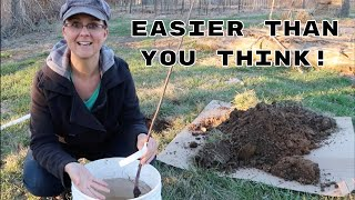 Easiest Way to Plant Bare Root Trees!!