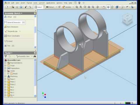 autodesk inventor 2009 tutorial machining youtube rh youtube com Autodesk Inventor Car Autodesk Inventor Icon