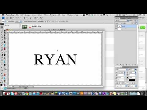 how to change text centering in photoshop
