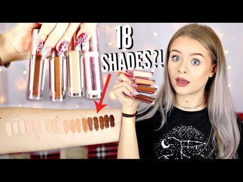 TESTING NEW MAKEUP REVOLUTION CONCEAL + DEFINE CONCEALER *ALL SWATCHES* | sophdoesnails