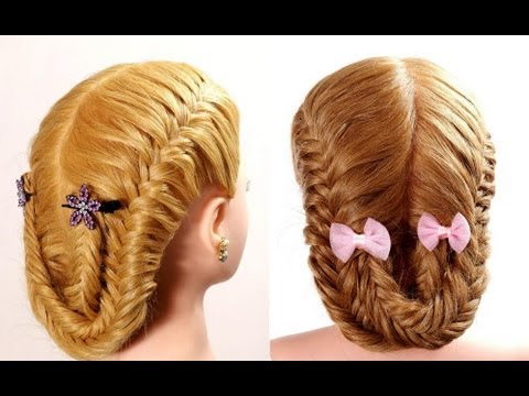 Fishtail braid hairstyle tutorial. Braided hairstyles for ...