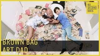 Dad Makes Lunch Bag Art For His Kids // 60 Second Docs
