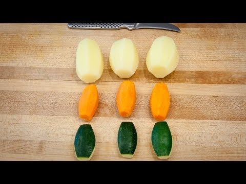 Tourné Cut - How to Turn Potatoes, Zucchini and Carrots