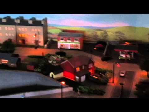 Model Rail Layout. N Gauge. Wensdale, evening
