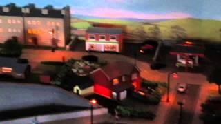 Model Rail Layout. N Gauge. Wensdale, evening