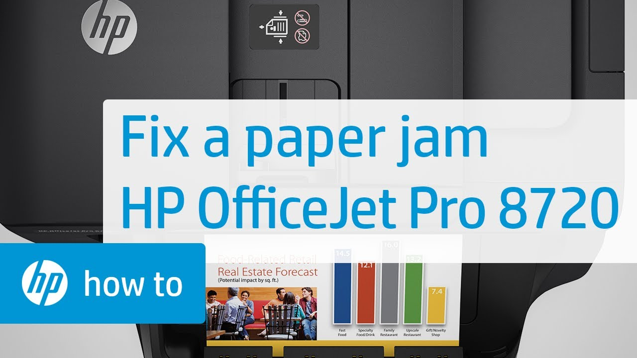 Fixing a Paper Jam on the HP OfficeJet Pro 8720 Printer | HP OfficeJet | HP
