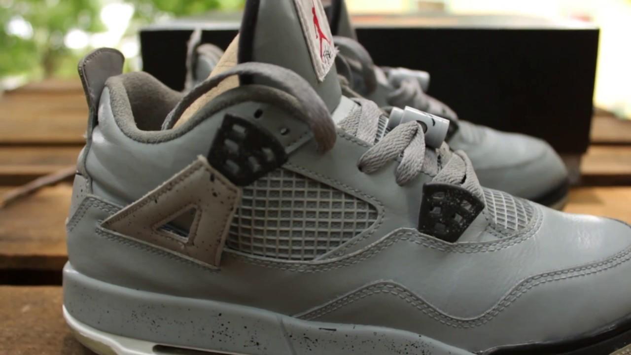 efc416529535 Custom Jordan 4 Cement Jordan 4s Custom Jordans Custom Shoes - YouTube