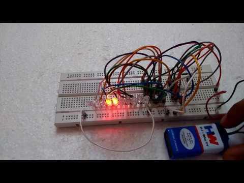 DIY LED Chaser Using IC 555 & 4017 | MrWire - YouTube