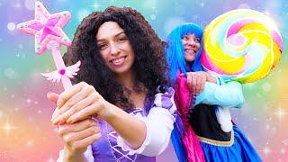 Новые игры для девочек - Конфеты для Принцессы ДИСНЕЯ! - Смешное видео с Волшебной Палочкой.