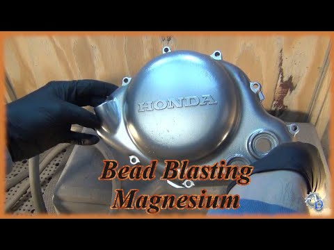 Bead Blasting A Magnesium Motorcycle Cover
