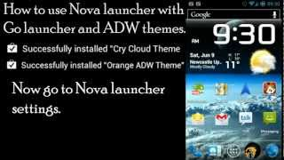 Nova launcher (prime) using ADW and Go launcher EX themes Android 4.0.4 Ice cream sandwich