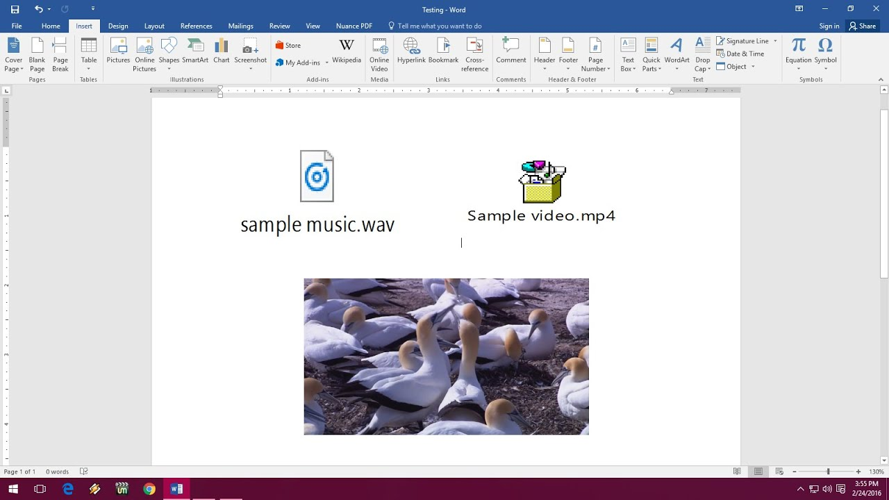 How to insert music video in ms word word 2003 to 2016 youtube buycottarizona