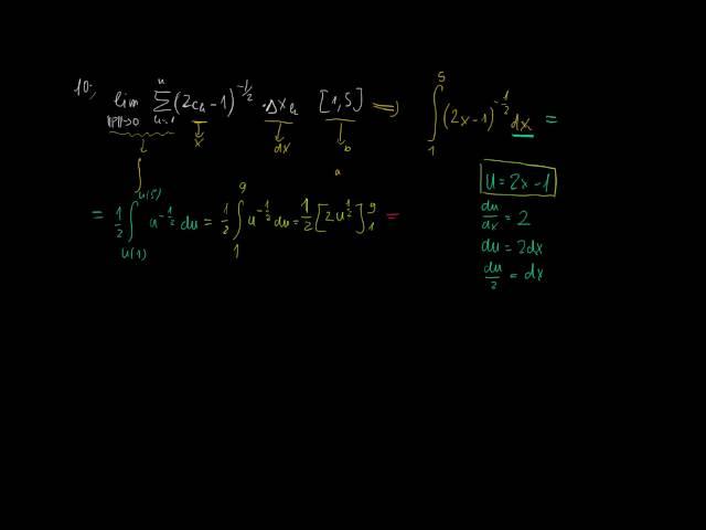 Helyettesítés és görbék által közbezárt terület - Megoldások 4