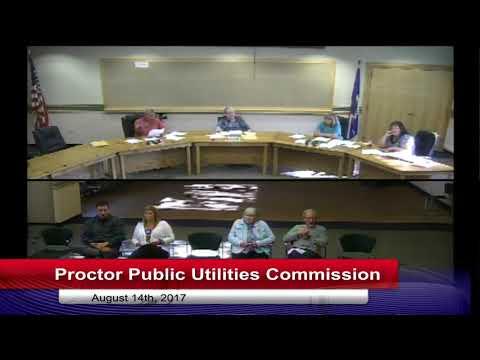 Proctor Public Utilities Commission 2017 08 07