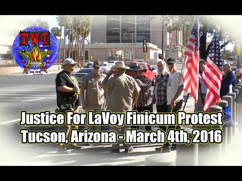 """Justice for 'LaVoy' Finicum"" Protest - Tucson, Arizona - 2016"