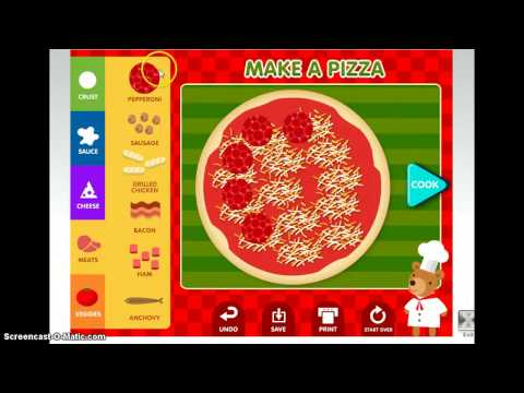abcya making your own pizza