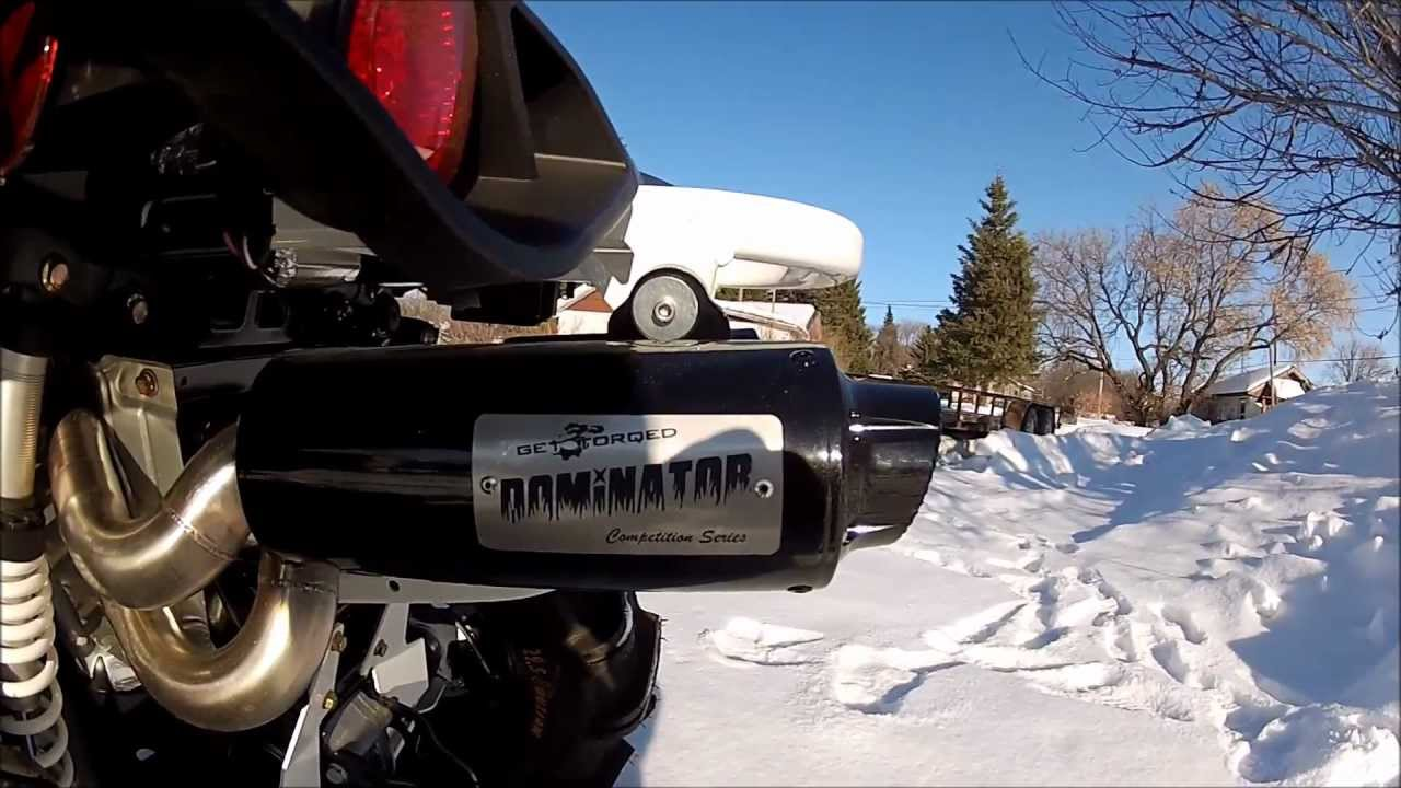 Can Am Outlander 800 >> Get torqued Dominator dual exhaust 2013 Can-am Renegade XXC 1000 - YouTube