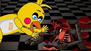 SFM/FNAF Five Night at Freddy's - Foxy, Mangle, Chica [Funny Moments]