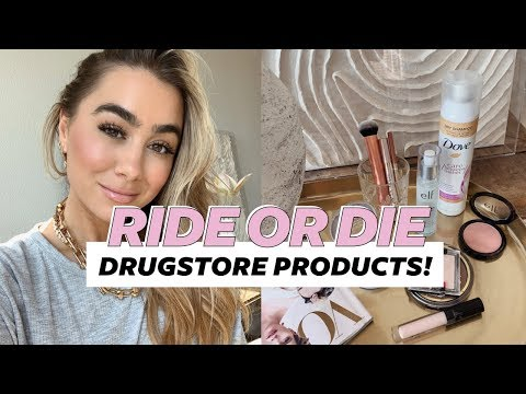 RIDE OR DIE DRUGSTORE BEAUTY PRODUCTS! Julia Havens thumbnail
