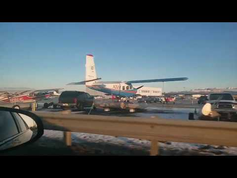 Ted Stevens International Airport Anchorage Alaska Beautiful Mountains View (Criefarmywife Tv)