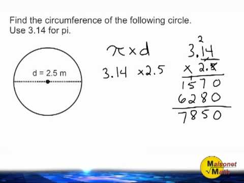 Circumference of a circle using 314 for pi youtube circumference of a circle using 314 for pi ccuart Image collections