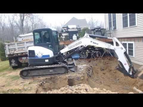 Bobcat E50 Digging Foundation