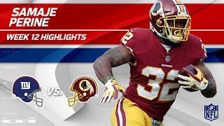 Samaje Perine's Powerful Night w/ 130 Total Yds! | Giants vs. Redskins | Wk 12 Player Highlights