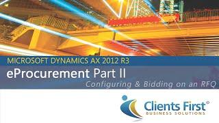 Dynamics AX 2012 R3 E-Procurement Video-Deel II