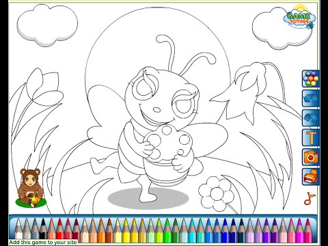 Honey Bee Coloring Pages For Kids - Honey Bee Coloring Pages