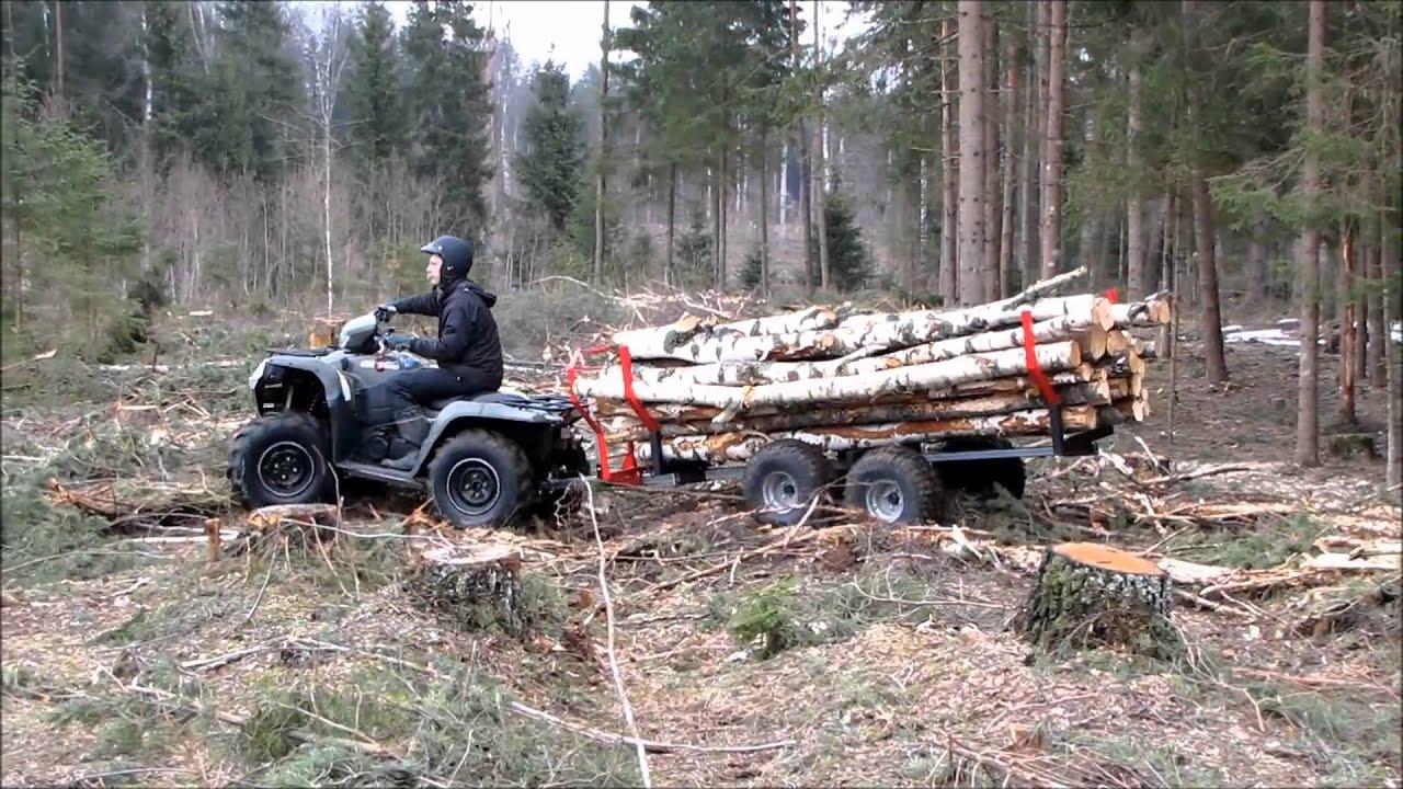 Atv Timber Trailer Youtube