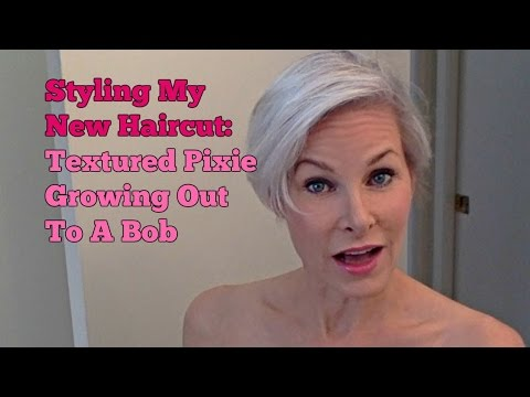 Styling My New Haircut Textured Pixie Growing Out To A Bob Youtube