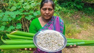 Arum Spinach with Shrimp Village Cooking Recipe by Village Food Life