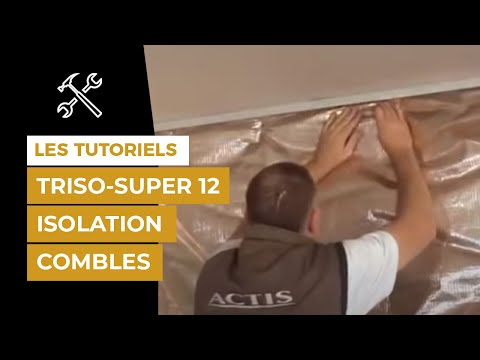 comment isoler mes combles am nageables et mes murs avec triso super 12 youtube. Black Bedroom Furniture Sets. Home Design Ideas