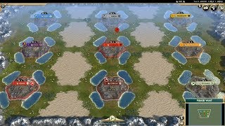 Civ 5 AI Only Timelapse: Battle of Castles