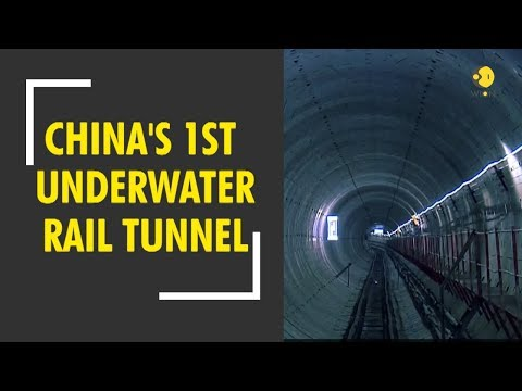 China builts its first underwater rail tunnel