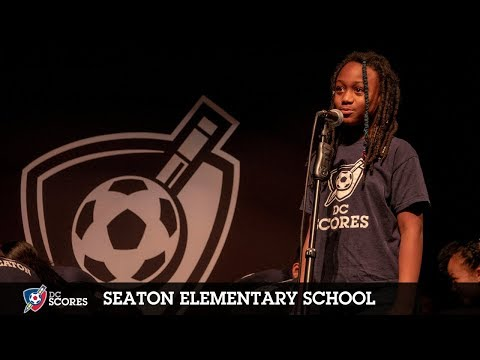 Seaton Elementary School performs at the 2018 Westside Poetry Slam