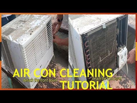 LG Aircon Cleaning. Window Type 1HP. DIY - Tutorial
