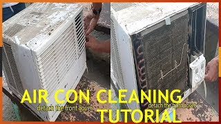 LG Aircon Cleaning. Window Type 1HP. DIY - Tutorial