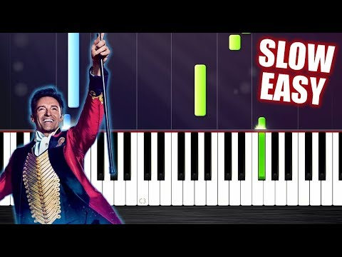 The Greatest Showman - This Is Me - SLOW EASY Piano Tutorial by PlutaX