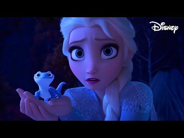 Frozen 2 Elsa Meets Bruni The Fire Spirit Salamander Clip Hd 1080p Blu Ray Youtube