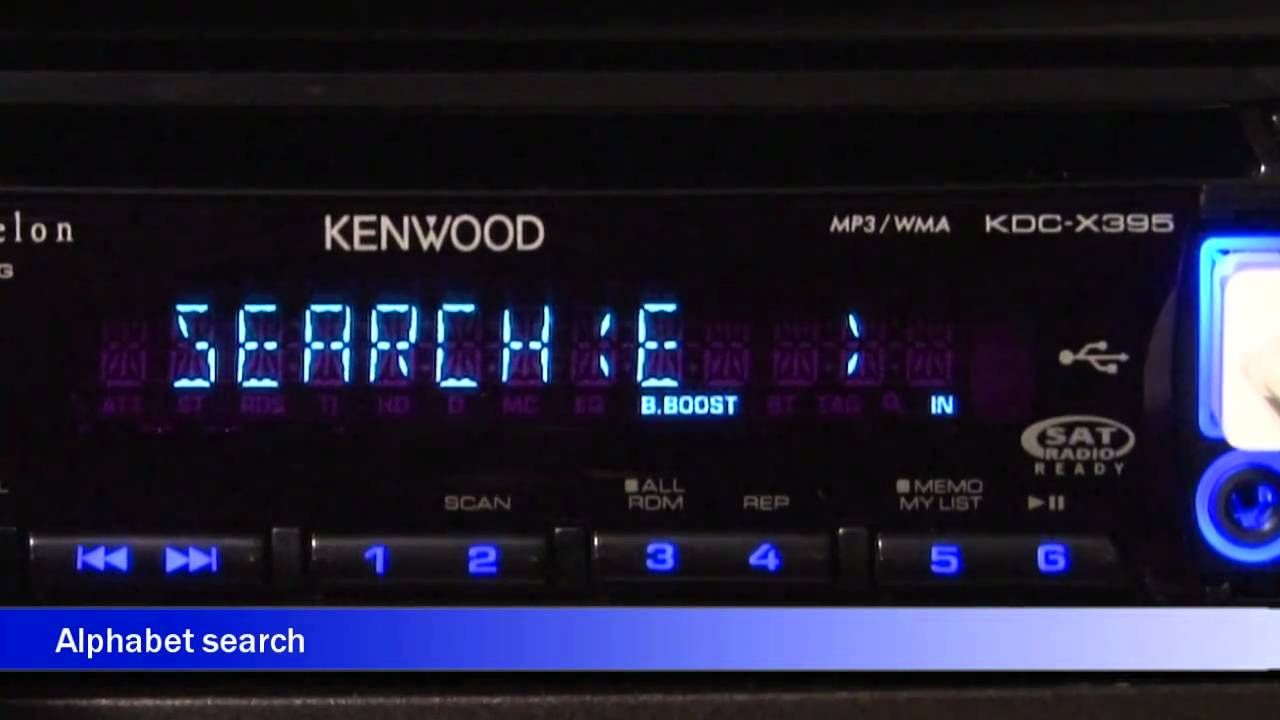 kenwood kdc-x395 cd receiver display and controls demo | crutchfield video