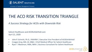 Recorded Webinar The Aco Risk Transition Triangle A Success Strategy For Acos With Downside Risk Aco Exhibit Hall