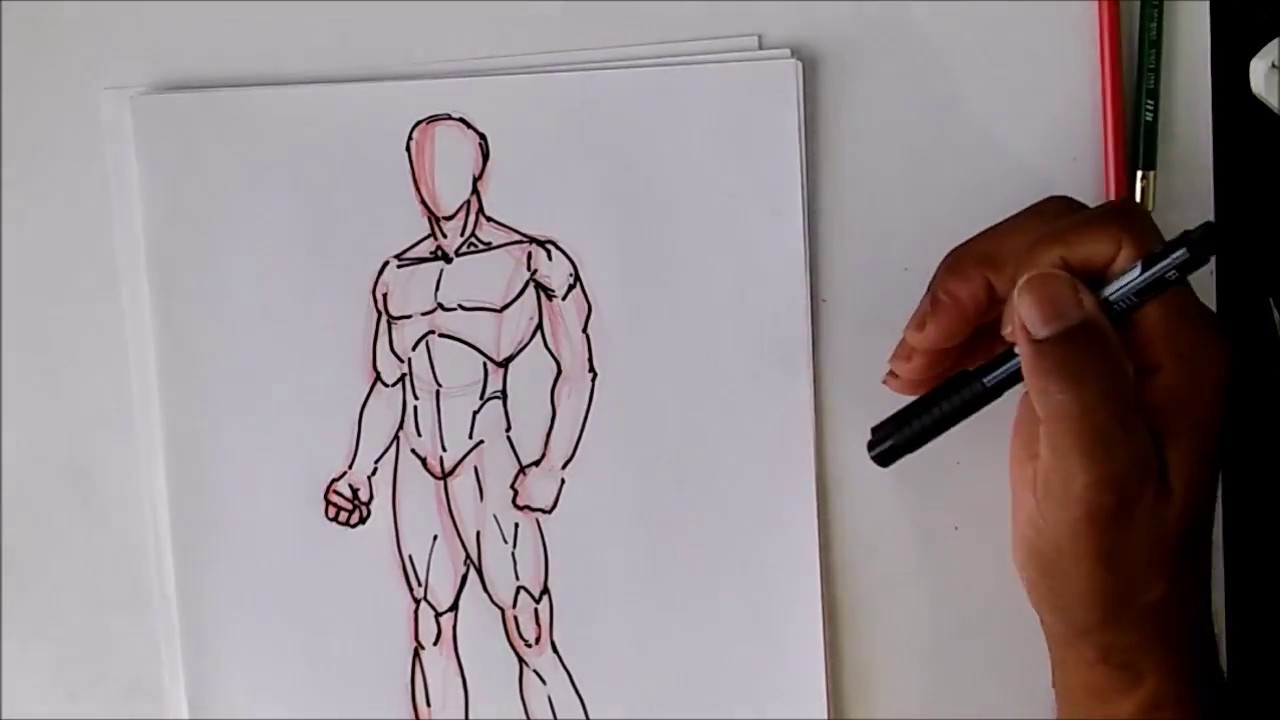 How To Draw The Male Body Oh So Simple Youtube
