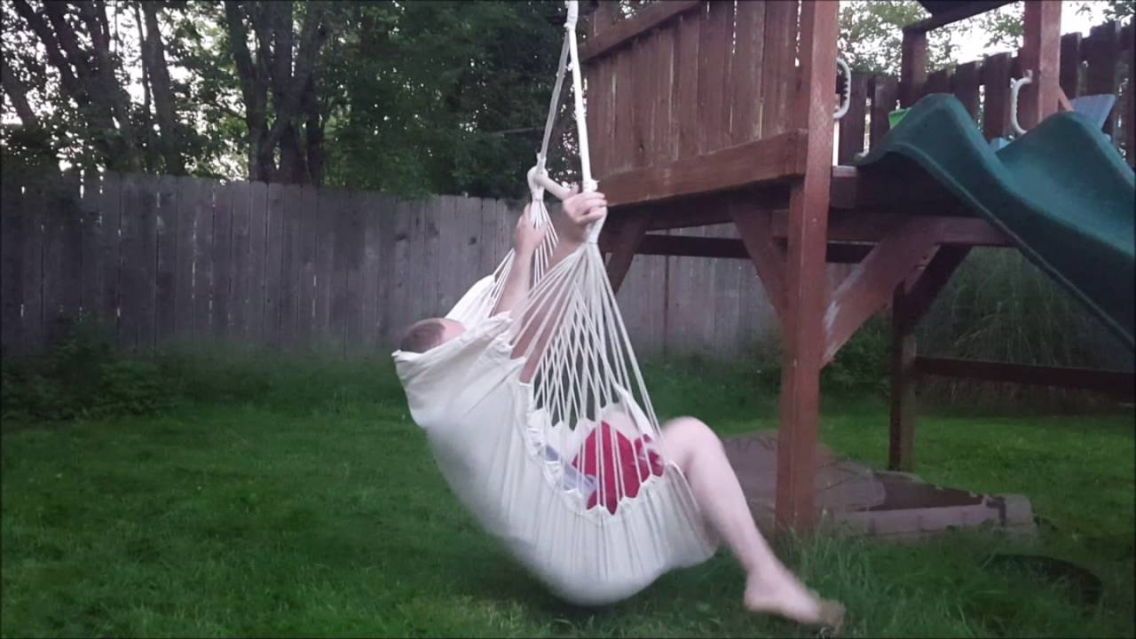 swing chair seat gaming ps4 suesport hanging rope hammock porch youtube