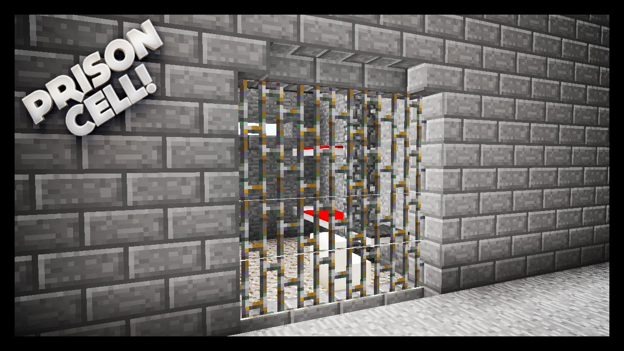 minecraft how to make a prison cell youtube